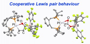 Late transition metal cooperative Lewis pairs